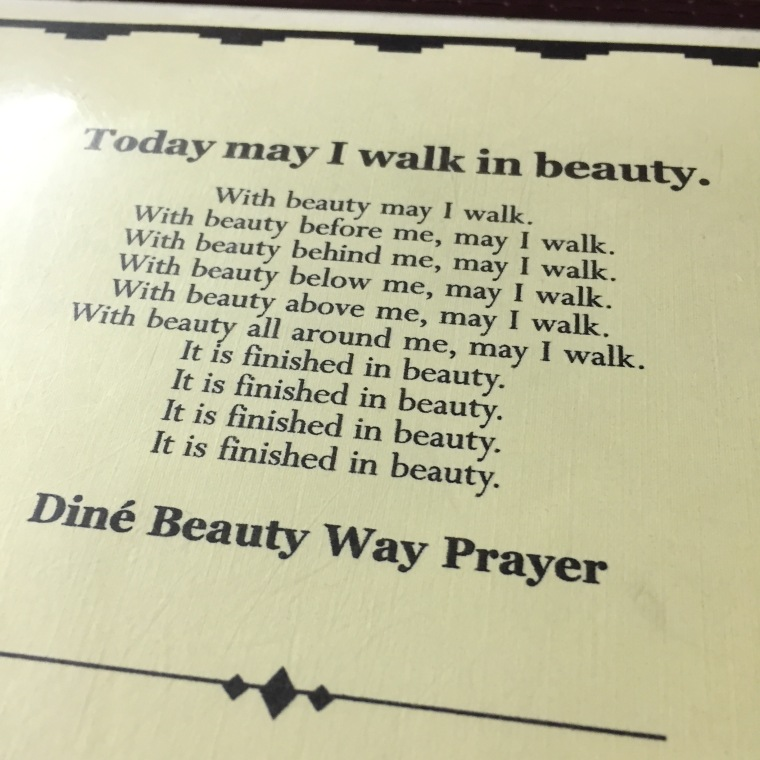 Dine Beauty Way Prayer