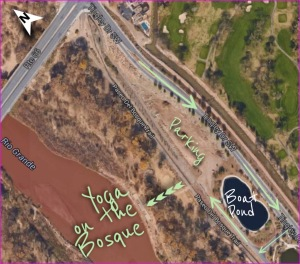 directions to yoga on the bosque
